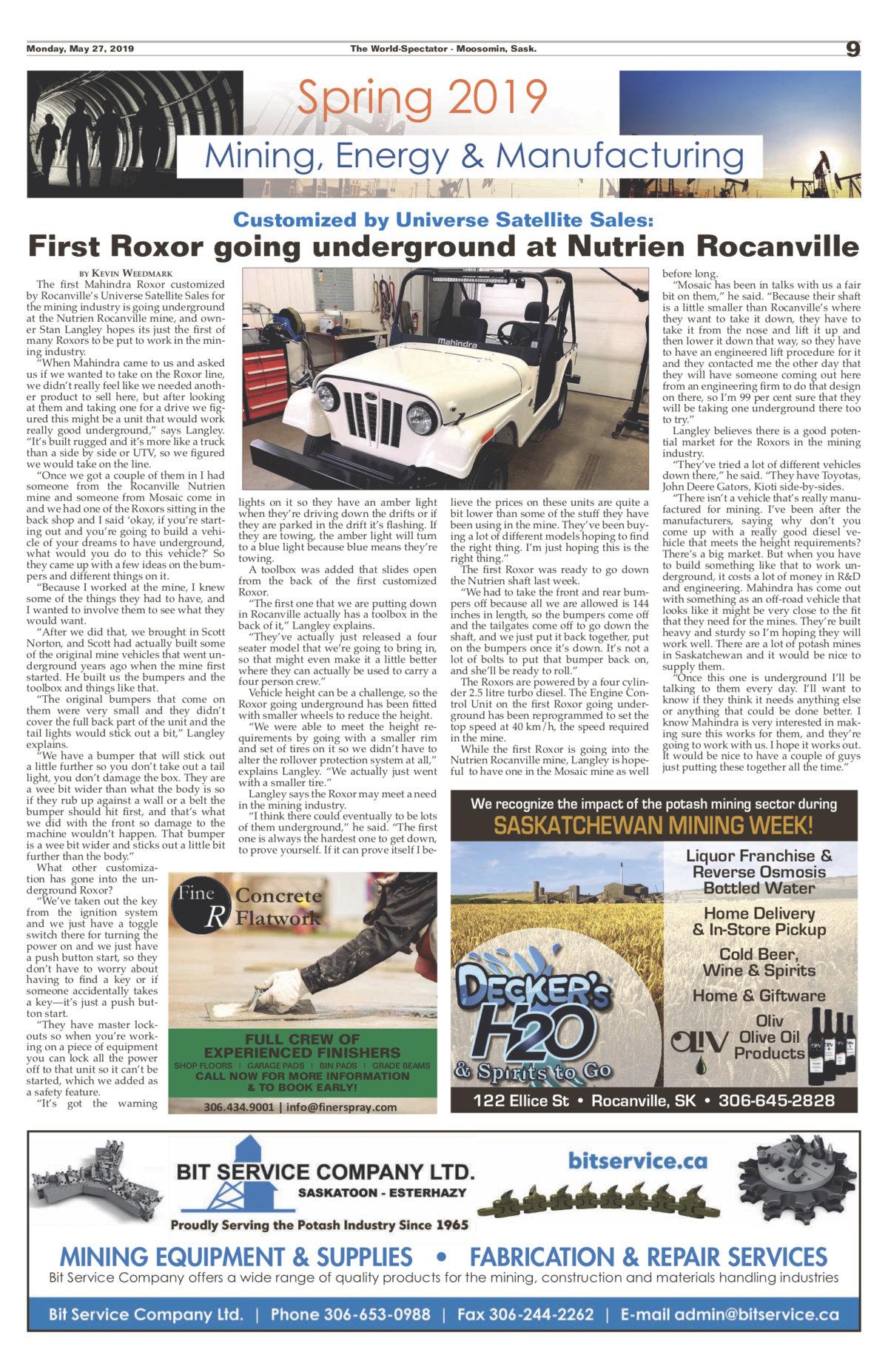 Local Paper covers the Roxor going underground  - Team ROXOR Forum